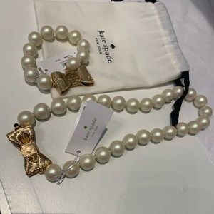 Kate Spade All Wrapped Up Pearl Necklace/bracelet